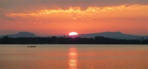 Sonnenuntergang überm Hegau